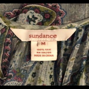 Sundance Tops - Sundance silk semi-sheer 3/4 sleeve medium blouse